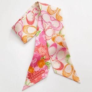 NWT Coach Poppy Pop Dream C Floral Ponytail Scarf